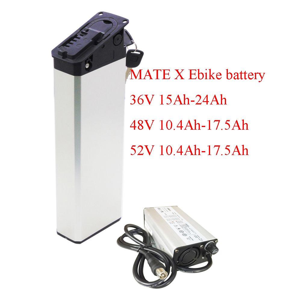 MATE X Katlanır Elektrikli Bisiklet Yedek Pil Paketi 48 V 14.5AH 15AH 17AH 250 W 500 W 750W Piller
