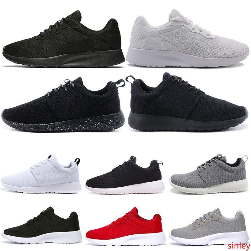 2019 Yeni Tanjun Run Koşu Ayakkabı erkekler kadınlar siyah düşük Hafif Nefes Londra Olimpiyat Spor Sneakers Eğitmenler 36-45 mens