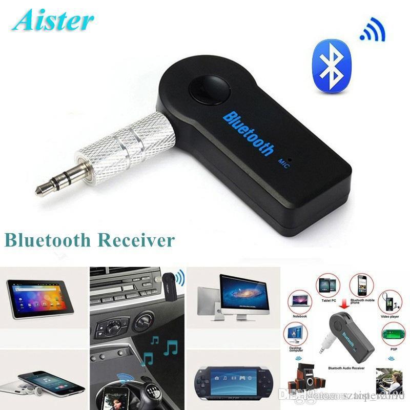 블루투스 수신기 휴대용 3.5mm 스트리밍 자동차 무선 AUX 오디오 음악 어댑터 전화 / PC 용 마이크로폰