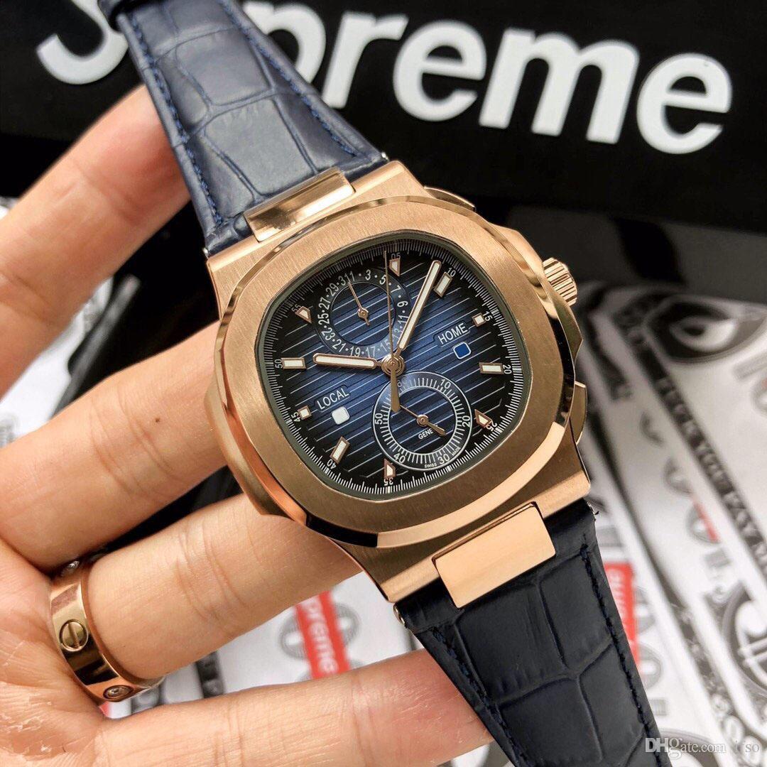 Мужчины Часы Автоматическая Кожа движения бэнд 316L Watchcase 40мм Водонепроницаемый наручные часы Механические часы для мужчин
