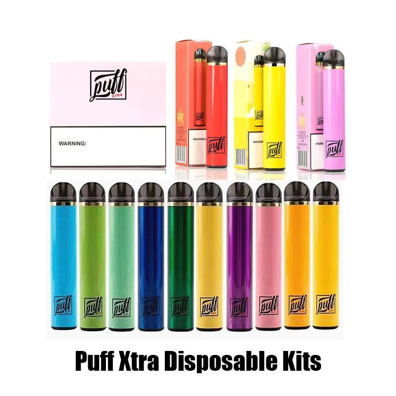 Lo nuevo 1500puffs soplo Xtra desechable de 5 ml de Vape pluma precargadas Cartuchos carros vainas Starter Kit vaporizadores e cigs Bar Sistema Dispositivo de vapor