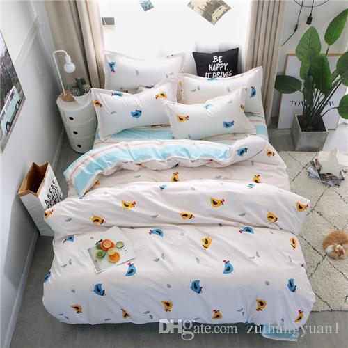 Conjunto del lecho sistemas / azul cama Moda 4pcs / ropa de cama para los niños / ropa de cama Sábana funda nórdica funda de almohada, llena Twin Queen