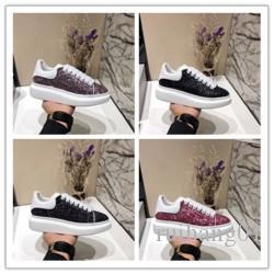 2020 Designer de Luxo calçados casuais Melhores Cheap Top Quality Mens partido Sneakers Womens Moda Calçados Glitter Shinny Sneakers tênis F015