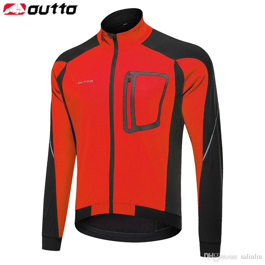 Outto мужская ветрозащитный тепловой Велоспорт куртка Осень Зима разогреть велосипед светоотражающие трикотажные изделия ветровка пальто MTB велосипед одежда