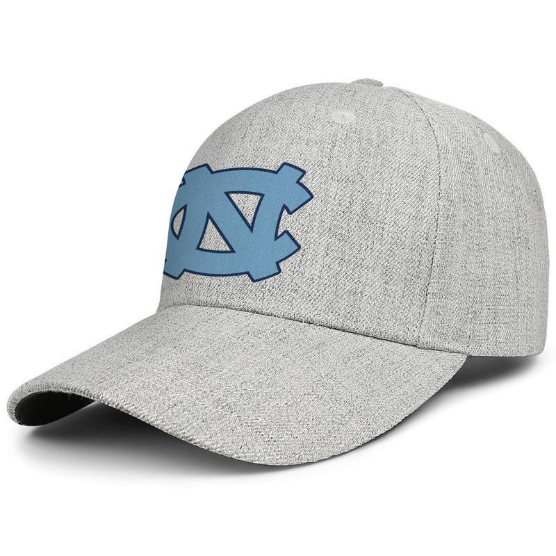 North Carolina Tar Heels homens do logotipo primárias mulheres ajustável snapback baseball lã chapéus de grife tampas de pesca Impresso plainGolf preto