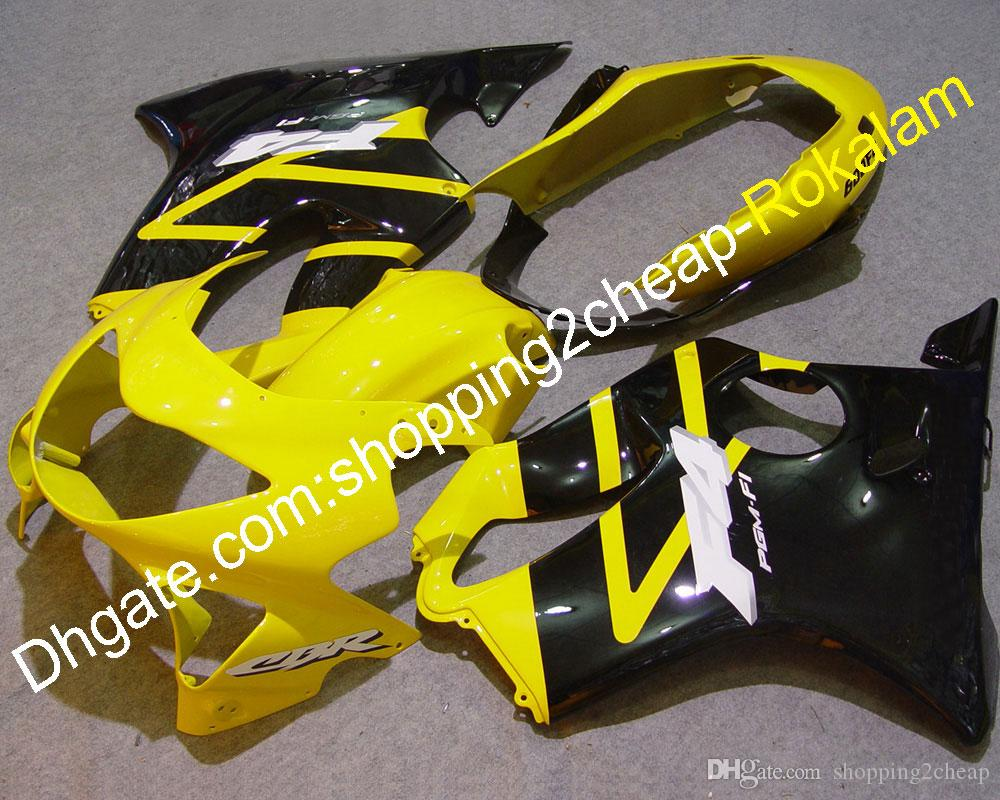 For Honda CBR600 F4 1999 2000 CBR 600 CBR600F4 99 00 CBR-600 Injection Yellow Black Motorcycle Complete Fairing (Injection molding)