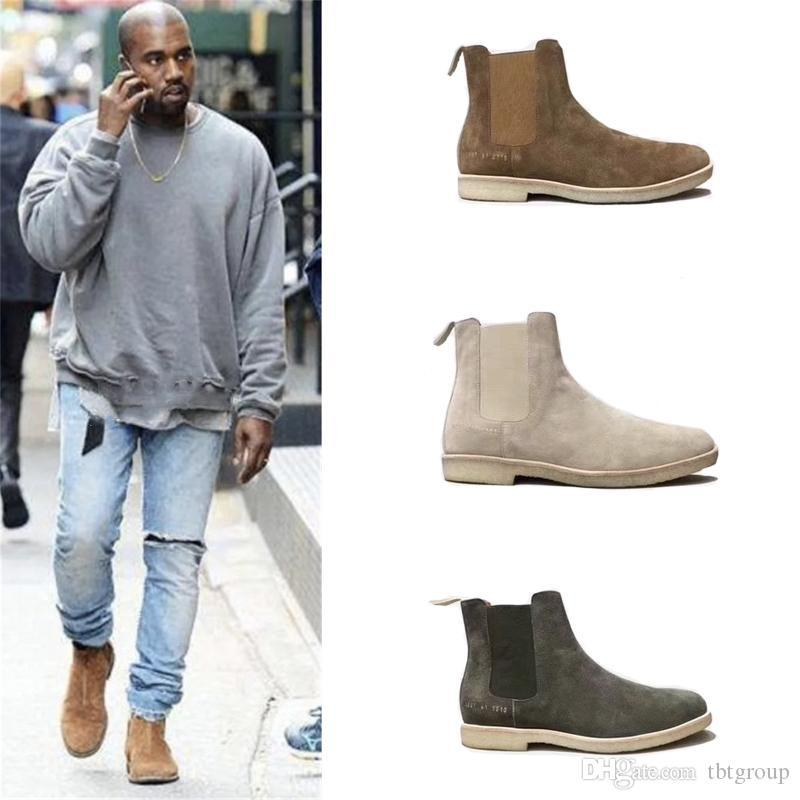 Designer Suede Chelse Boots Kanye West