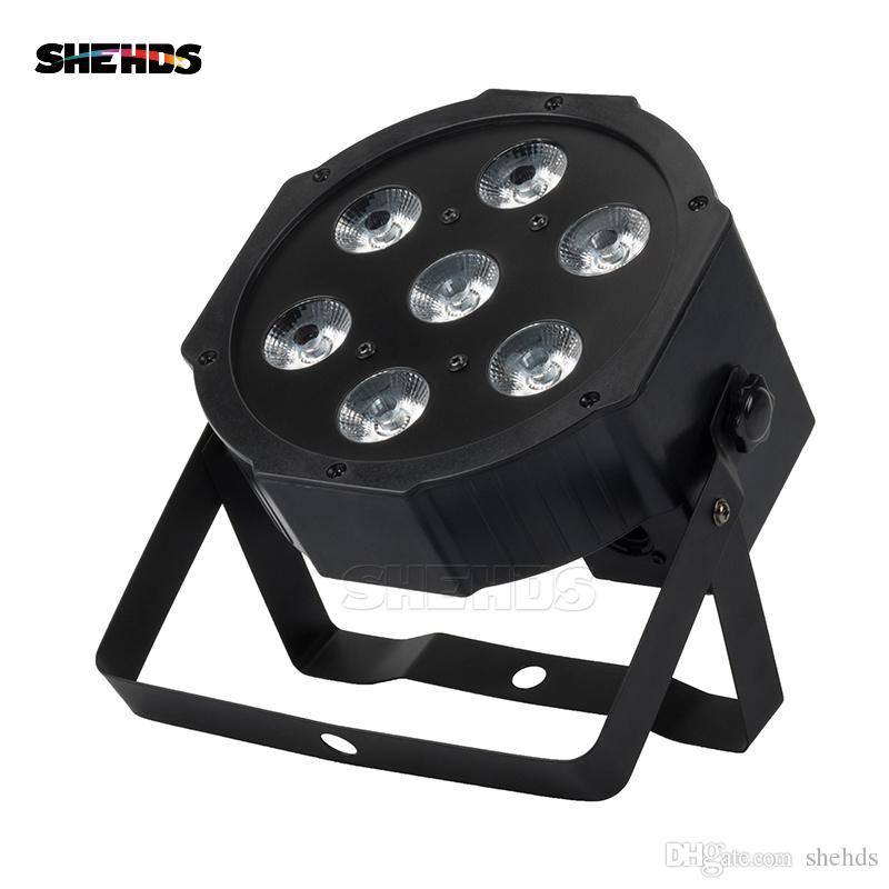 SHEHDS LYRE 7X12W RGBW LED PAR LIGHT mit DMX512 4in1-Bühnen-Wasch-Licht-Effekt für DJ-Disco-Party-Bühnenausrüstung LUCKES DISCOTECA