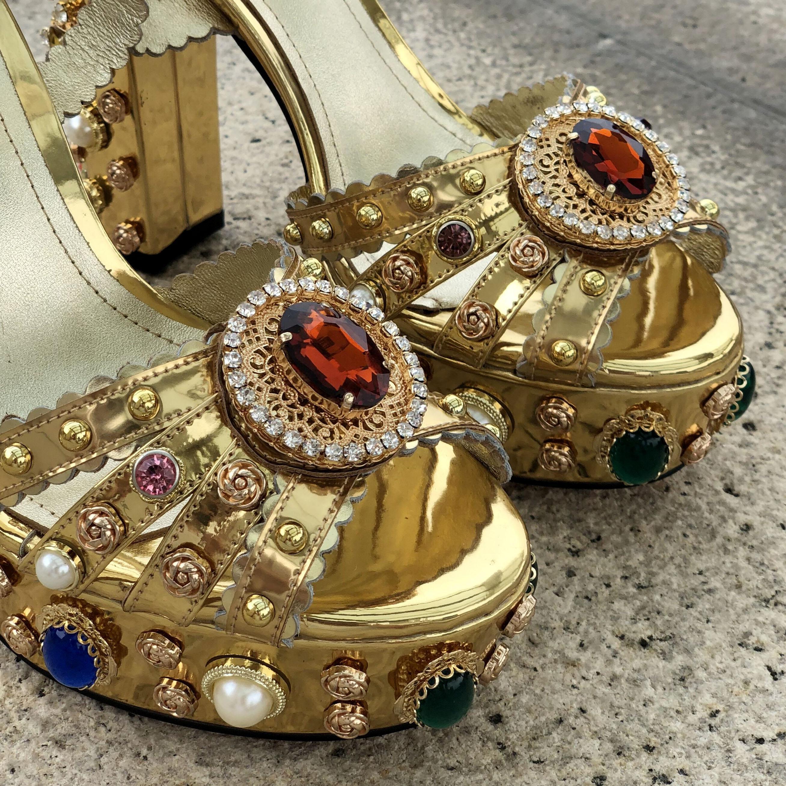 Горячая распродажа Diamone Pearl 14см Коренастый высокий каблук открывает Peep-Toes европейские американские дворцы на платформе босоножки обувь золото размером 35-42