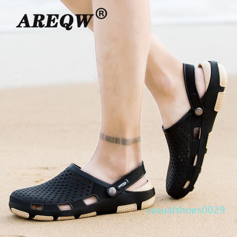 Sandalias Hombre Limited Mens Leather Sandal 2020 Men's Eva Clog Slipper Summer Sandals Lightweight High Quality Breathable c29