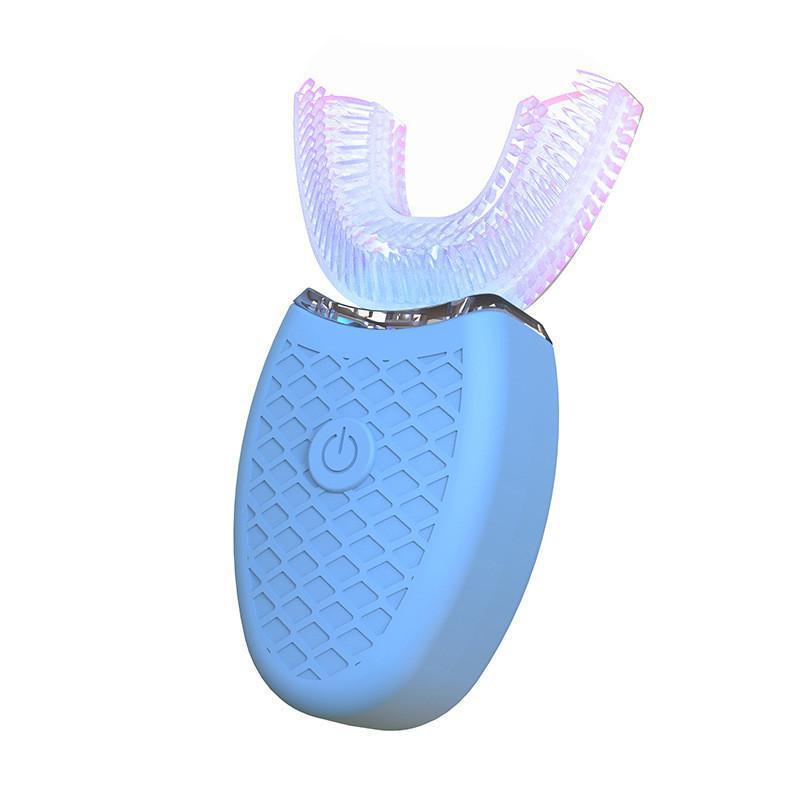 Qualité supérieure à 360 degrés Brosse à dents électrique Type de Intelligent Automatique Sonic U 3 dents modes propres dents de charge USB Bleu Blanchissant Light40