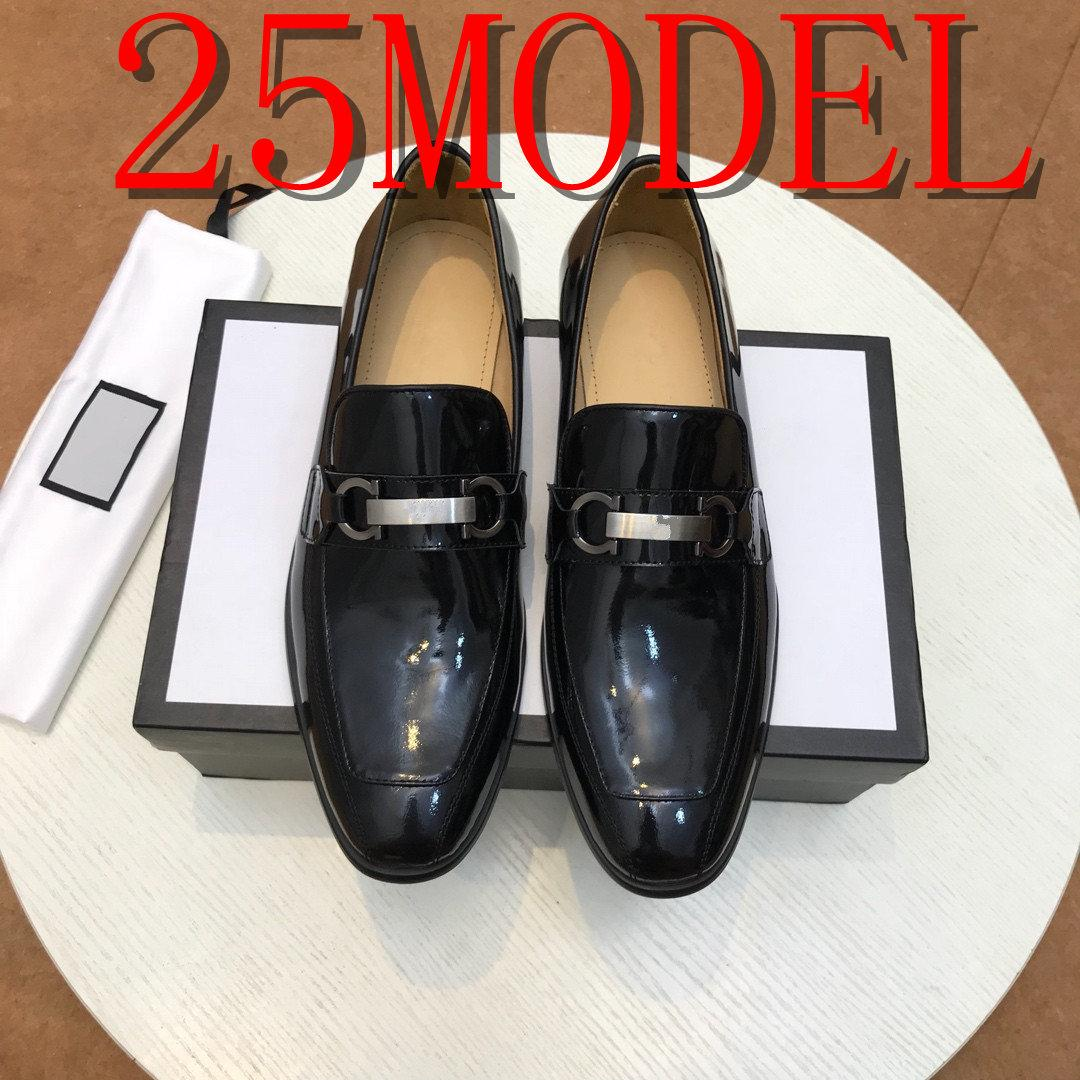 20SS Autumn Stylish Men Loafers Black Brown Genuine Leather Print Hand Painted Monk Strap Men's Dress Shoes Wedding Party Size 38-45