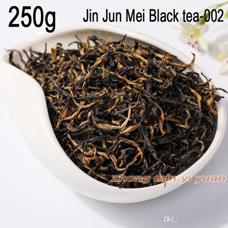002 vente bon thé La main supérieure Jin Junmei Wuyi Black Tea 2019 printemps nouveau top thé authentique 250g livraison gratuite + Gif