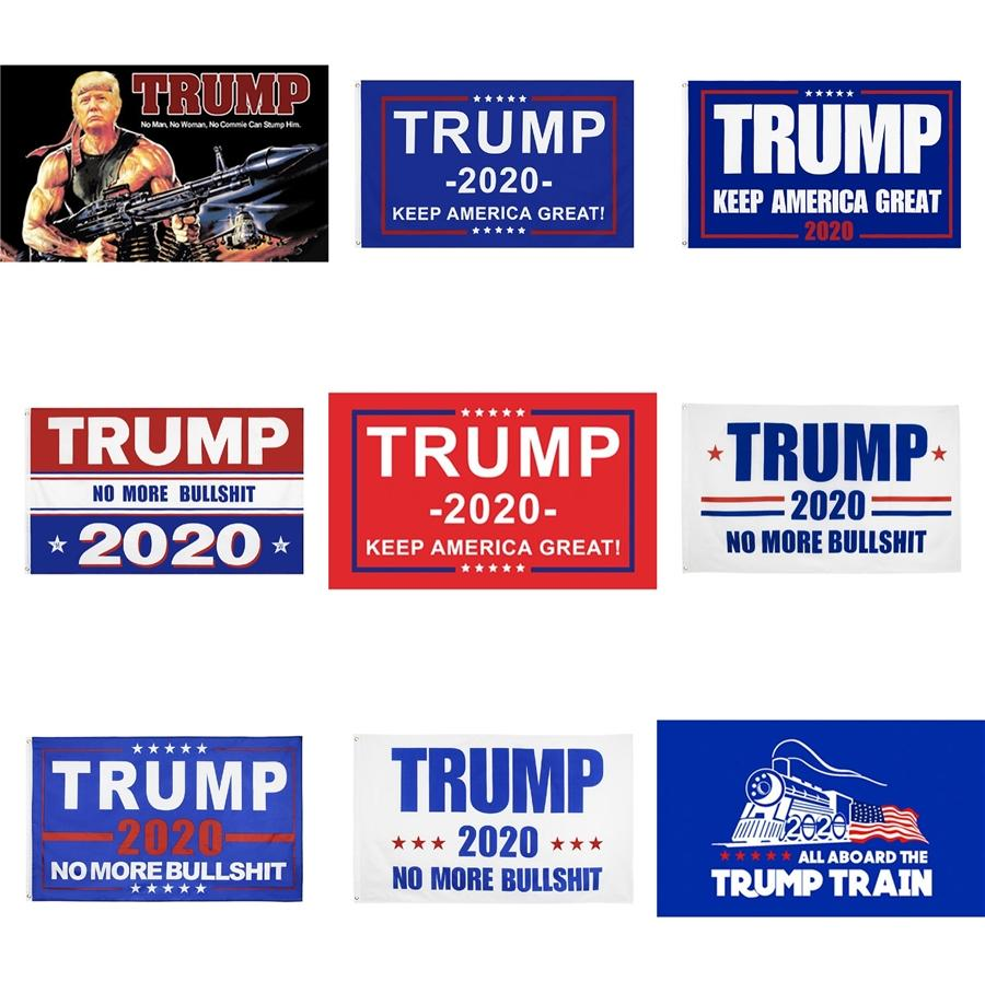 Free 8 Styles Trump 2020 Flag Donald Trump Flag Keep America Great Donald For President Campaign Banner 90*150Cm Garden Flags M527F #355