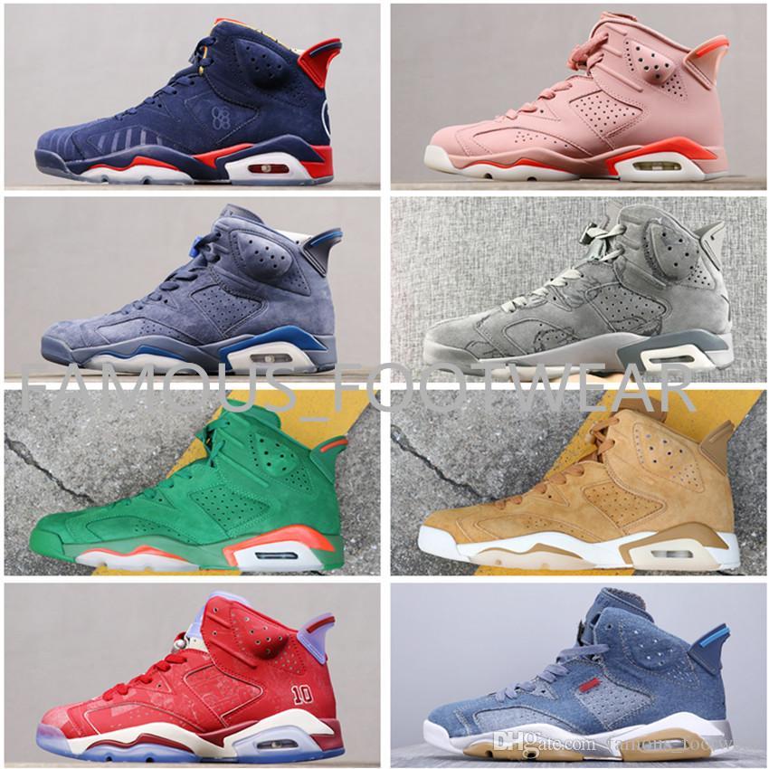 Top + qualité J 6 chaussures de basket infrarouge noir blanc Slam Dunk Aleali mai CNY Oreo Blé Cowboy Jimmy Butler bleu chaussures avec boîte