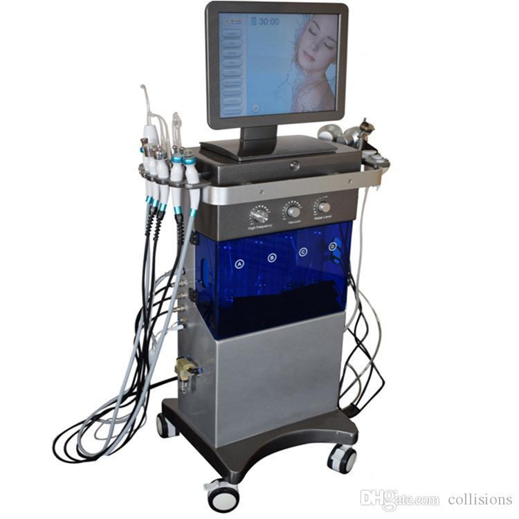 máquinas faciales 9in1 hidra dermoabrasión equipo del balneario máquina multifuncional cara cuidado de la belleza de la piel hidro belleza de oxígeno para la cara limpieza profunda