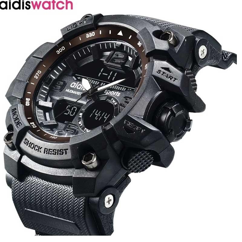 Novíssimo Addies Moda Assista Homens G Estilo Waterproof Sports Militar Watche Choque de luxo Analógico Digital Sports Watches Men LY191213