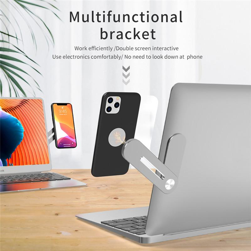 Multifunctional Mini Bracket Magnetic Mobile Phone Holder Portable Metal Aluninum Phone Stand with PC Computer gift magnets