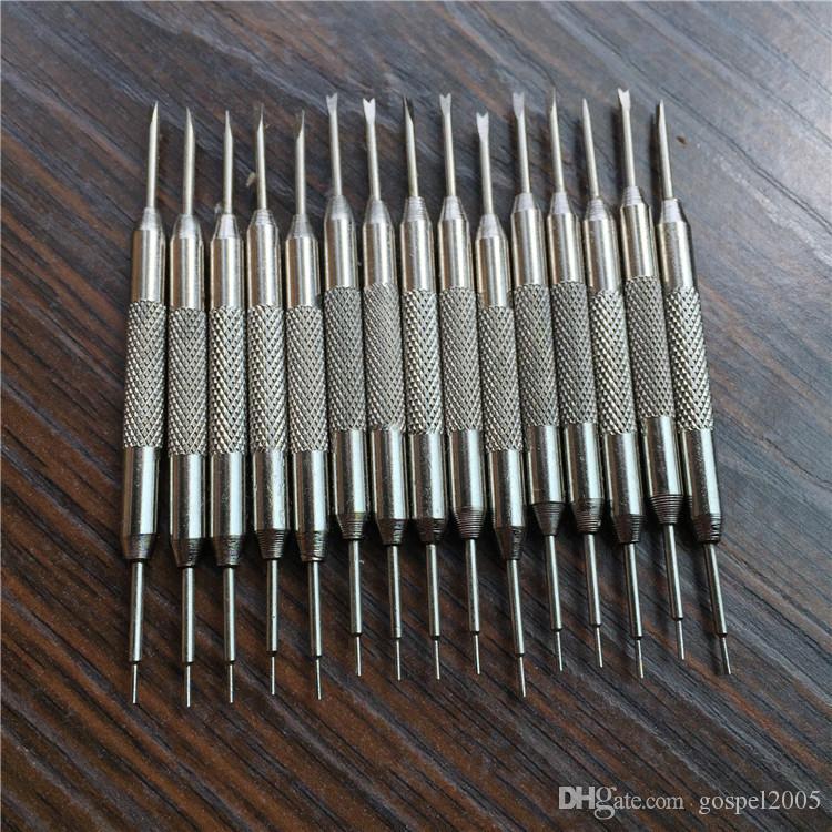 Uhr Demontagearmband Doppelköpfige Ohrwerkzeugbandentfernung Anpassungswerkzeug Batch Rohmaterial Ohrreparatur CTAOI