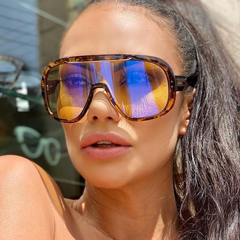 super big frame one piece sunglasses for women 2020 sun glasses men vintage windproof oversized shades female UV400