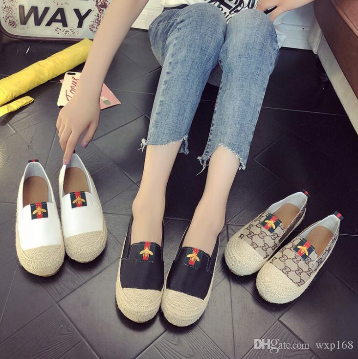 Scarpe basse Scarpe da donna con scarpe da pescatore 2019 Scarpe da donna primavera / estate Scarpe casual piatte da donna Scarpe da donna