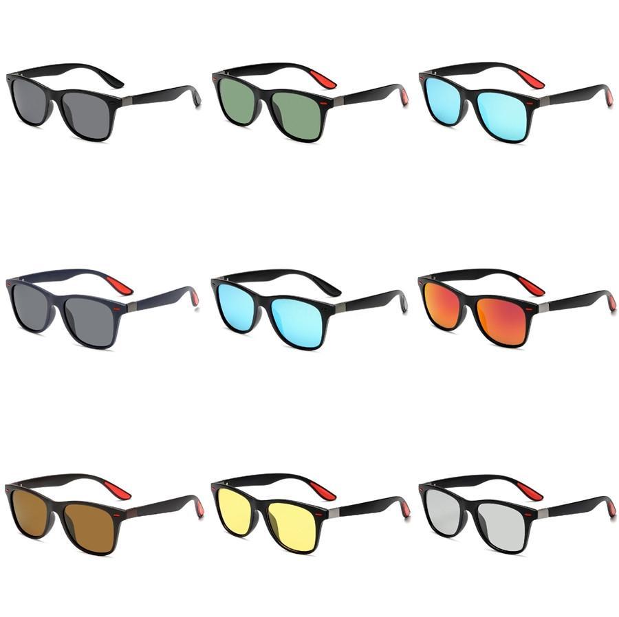 Nuevas gafas de sol polarizadas Gafas de sol Hombres Mujeres conducción Espejos Revestimiento Puntos Negro montura de las gafas masculino Uv400 Gafas de Gafas # 921