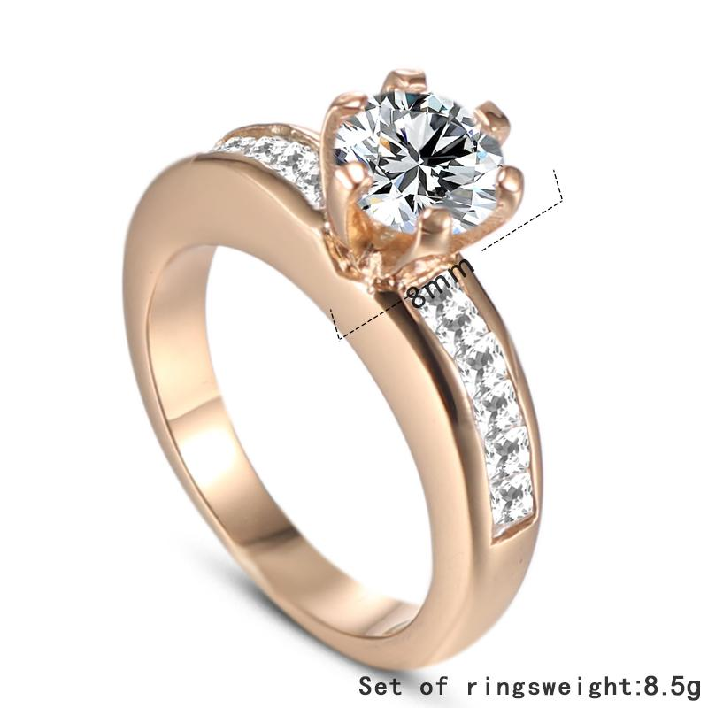 2019 jingyang Ring of gold couple stainless steel titanium Yahui engagement luxury jewellery accessories jewelry