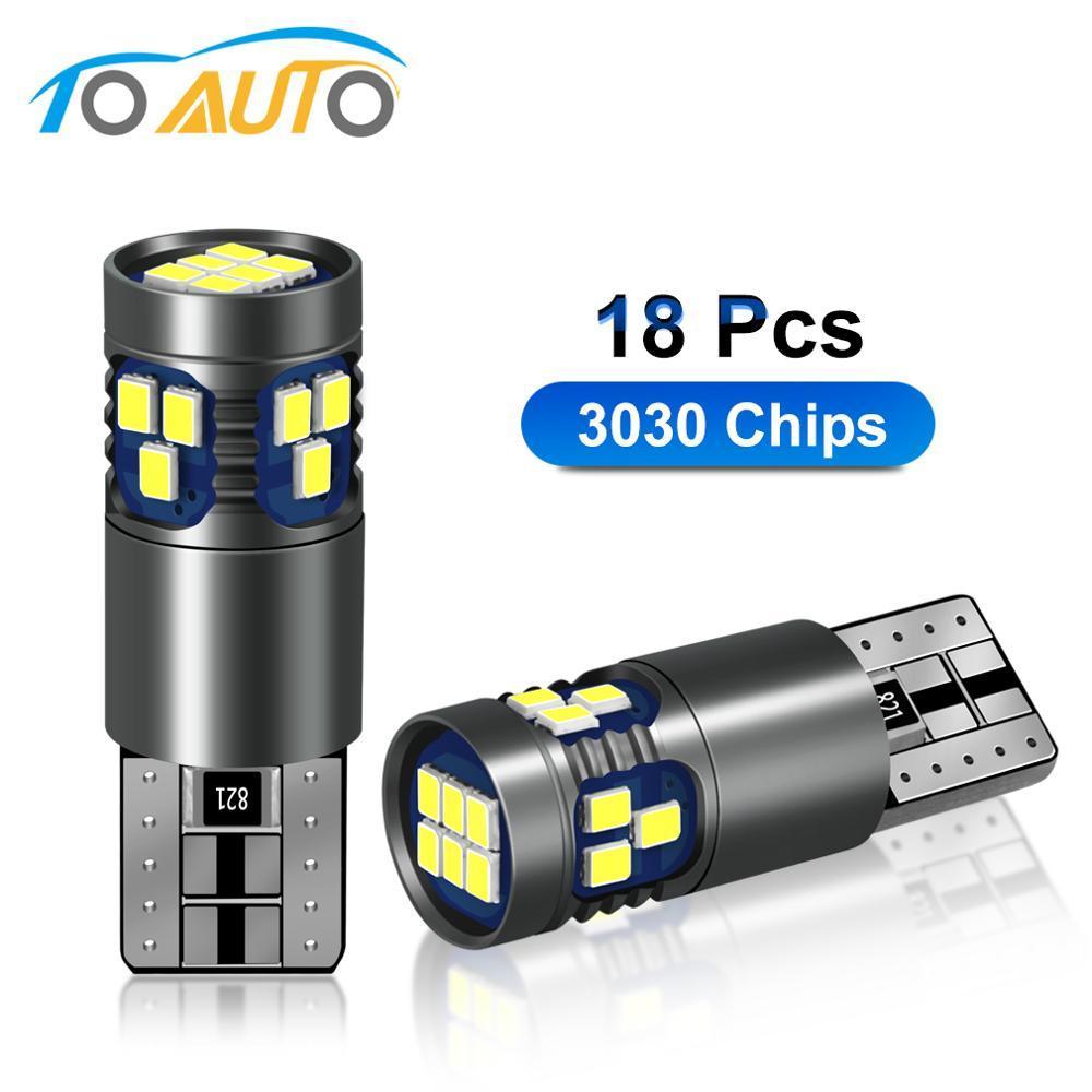 2pcs Canbus LED 194 168 T10 W5W LED 18pcs 3030 Erreur Chips sans voiture Intérieur Liseuses Carte Dôme Lampe automatique Ampoule 12V