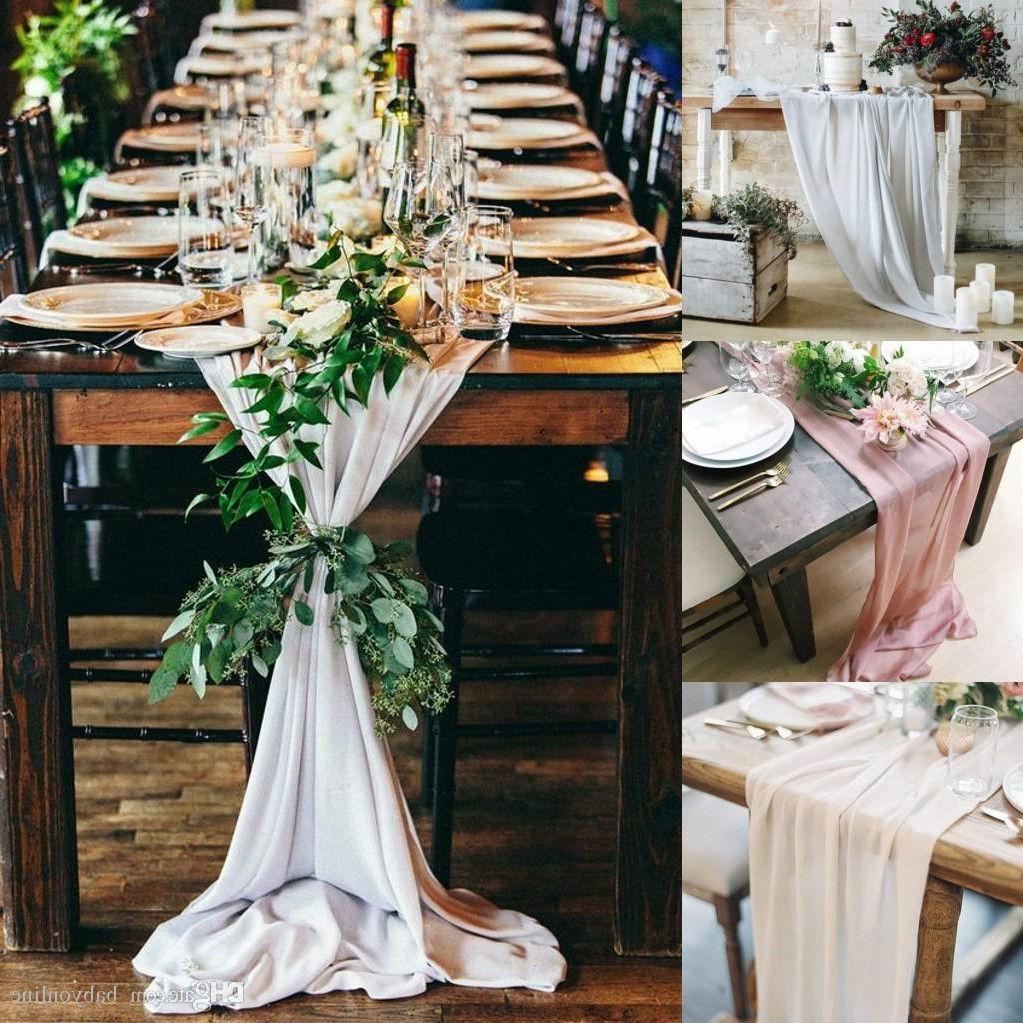 En la tabla de la boda del paño de 50 colores redondas y rectangulares de la boda larga tabla de la torta Idea mascarada fiesta de cumpleaños adornos de tela BF0146