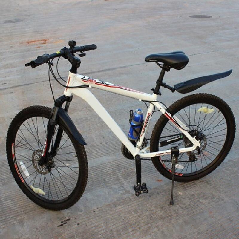 2 Pcs Black Plastic Mountain Bike Bicycle Rear Front Mud Guard Mudguard Fenders