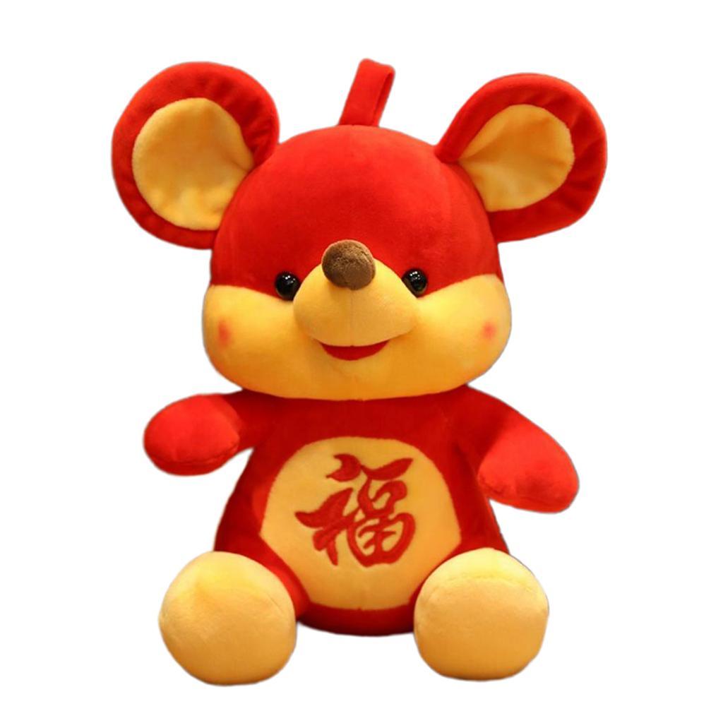 Rat New Year Mascot Doll Cute Mouse Plush Doll Creative Plush Toy Decoration