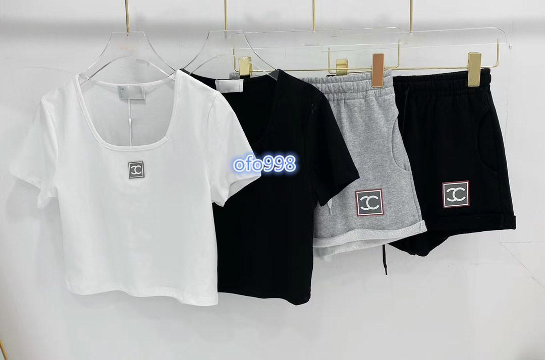 высокого класса женщин девочки ActiveWear набор жилет футболки топы шеи экипажа письмо печати коротким рукавом тройник и джинсовые шорты бег трусцой леггинсы костюм