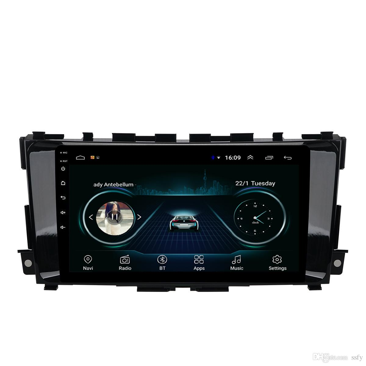 Android car GPS with radio AM FM free map multimedia player mp3 mp4 auto stereo Resolution HD 1024 * 600 for Nissan teana 2013-2016 9inch
