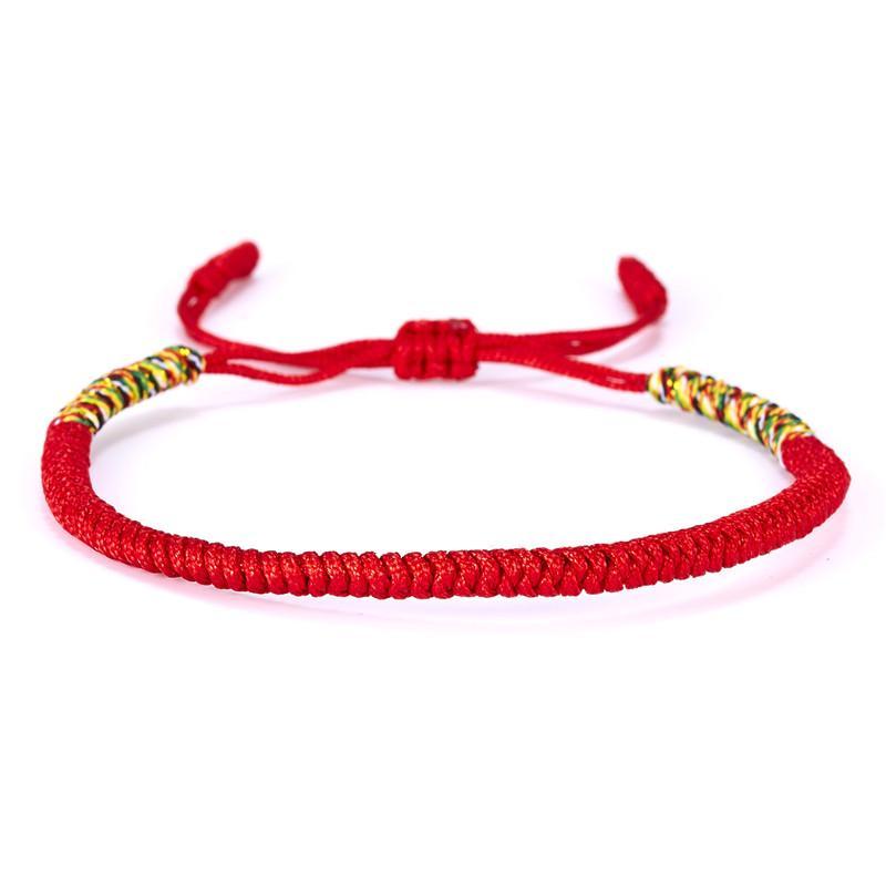 19 색상 티베트 불교 사랑 럭키 부적 티베트 팔찌 여성을위한 Bangles 남자 수제 매듭 로프 Budda 팔찌