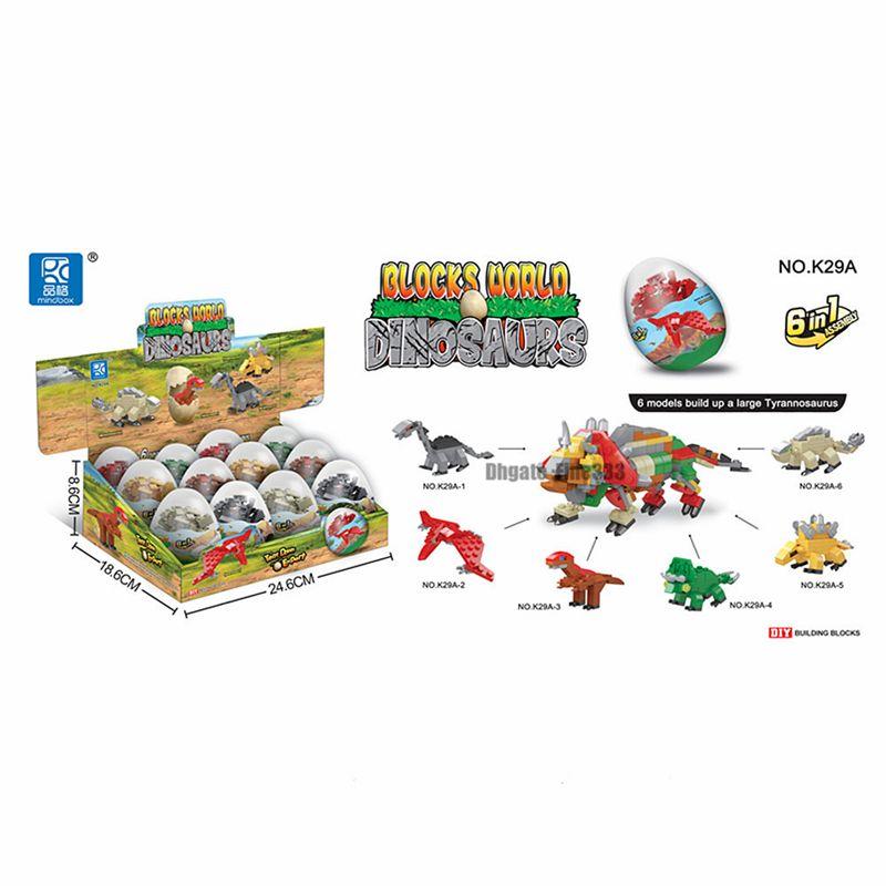 Dinosaur Toys Building Blocks Ball 12Pack Mini Animals Building Blocks for Kids Education & Fun Gift for Birthday