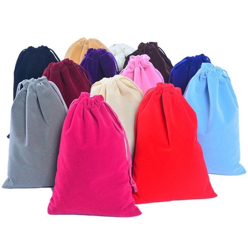 Горячие продажи 20x30cm большой большой бархатный мешок шнурок подарочная сумка сумки браслет подвески часы ювелирные изделия упаковка сумки