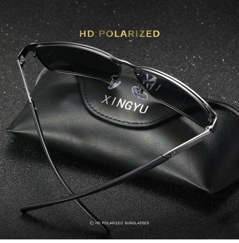 Men's Polarized Sunglasses Blue Film Driving Glasses Square Glasses Series 124 Sunglasses