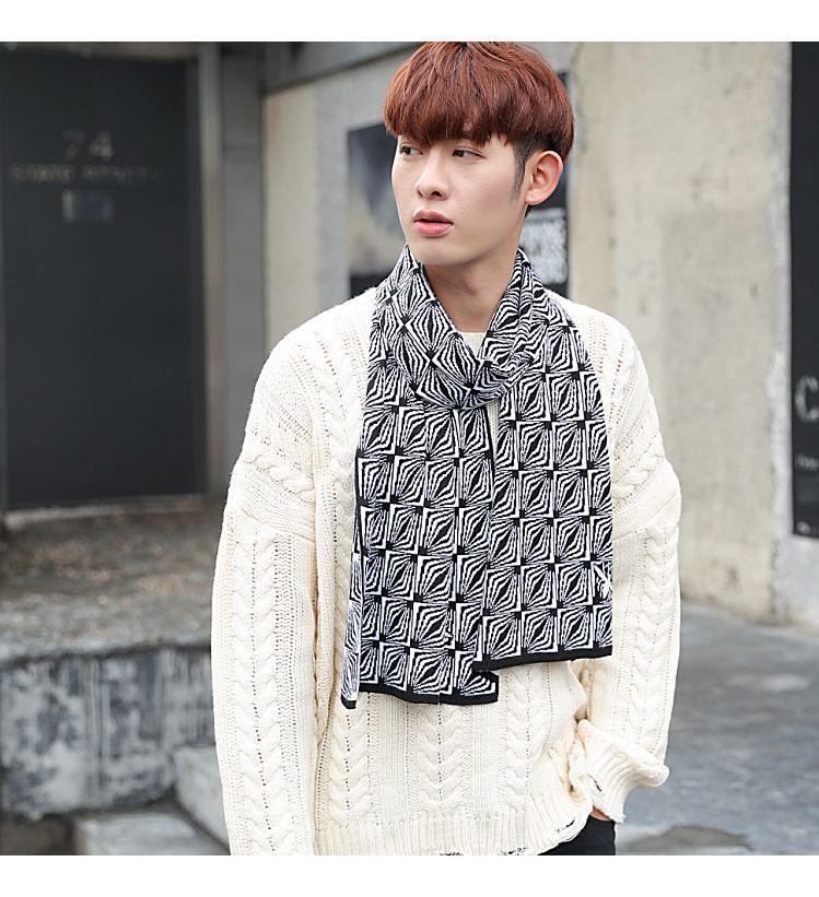 Cachecol dos homens novos Inverno Coréia Versão Coringa Com Simples Imitação De Cashmere Pescoço High-end Jovens