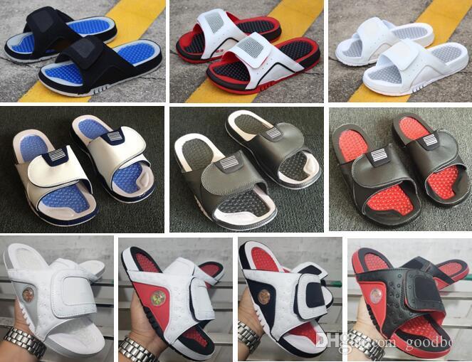 Sandalet Hydro 4 Bred 5 S 13 S 12 S Terlik Erkekler Kutusu Ile Toptan Ücretsiz Kargo Kırmızı Siyah Beyaz