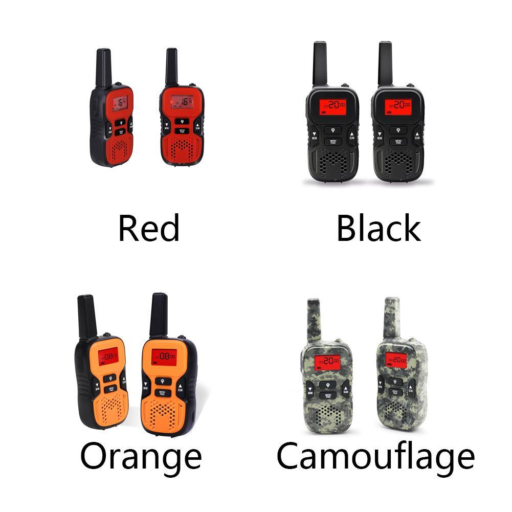 2pcs recarregável LCD caçoa o presente Prático Long Range Toy Walkie Talkies com a tocha Interativo Volume Durable ajustável
