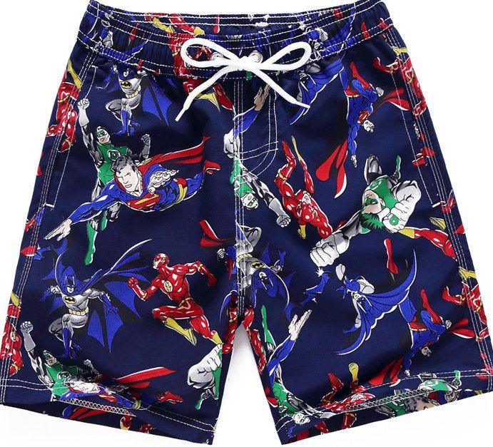 أطفال بنين سباحة السراويل أسماك القرش الصيف سريعة جاف مايوهات للفي سن المراهقة صبي الكرتون طباعة شاطئ السراويل الأطفال