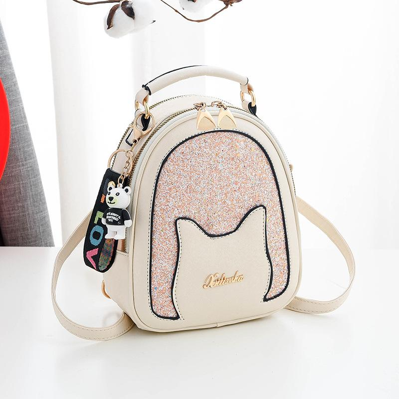 2020 new fashion handbags shoulder bag Korean style girls sequined student backpack