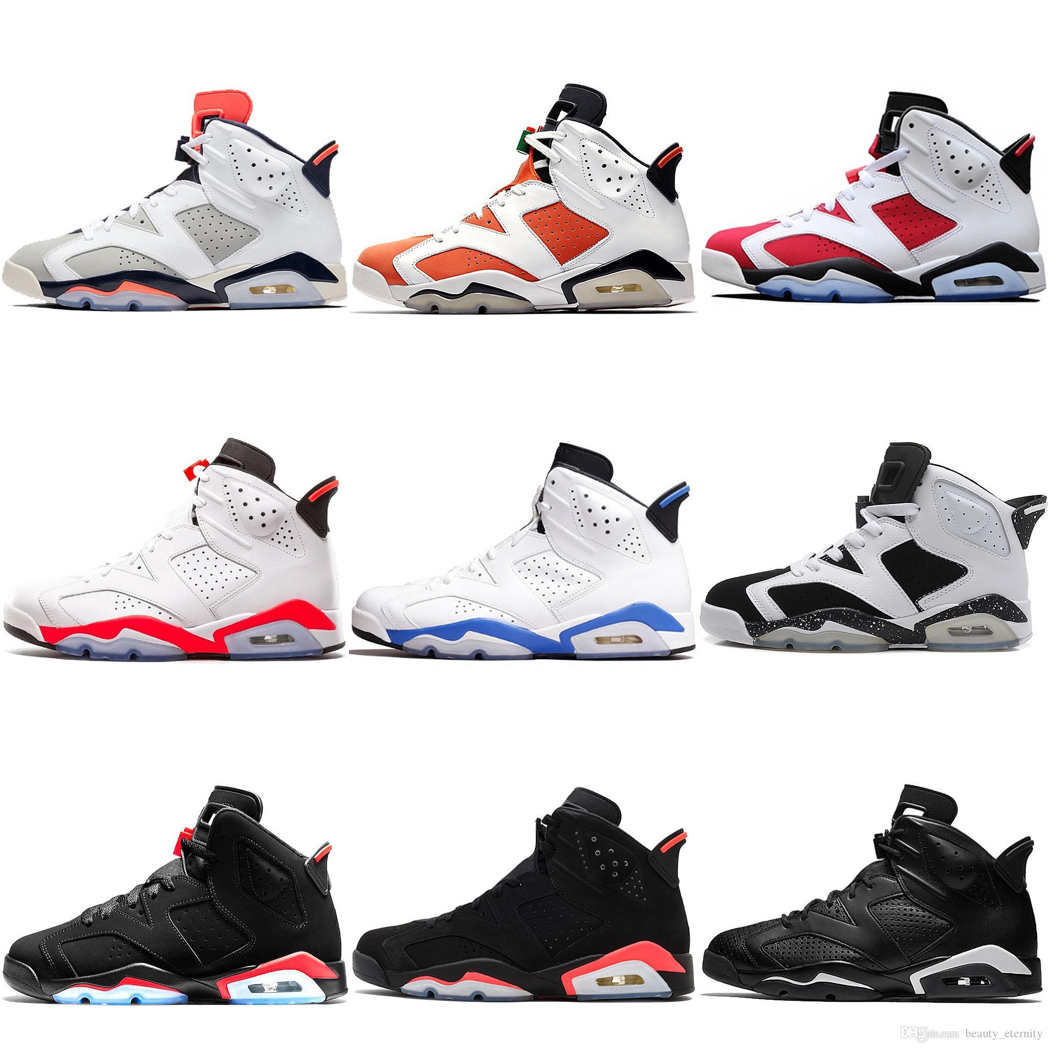 Nike Air Jordan 6 Nuevo Bred 6 6s Zapatillas de baloncesto para hombre Tinker UNC Gato negro Infrarrojo Blanco Carmín Hombres Diseñadores Deportivos Zapatillas de deporte Atlético