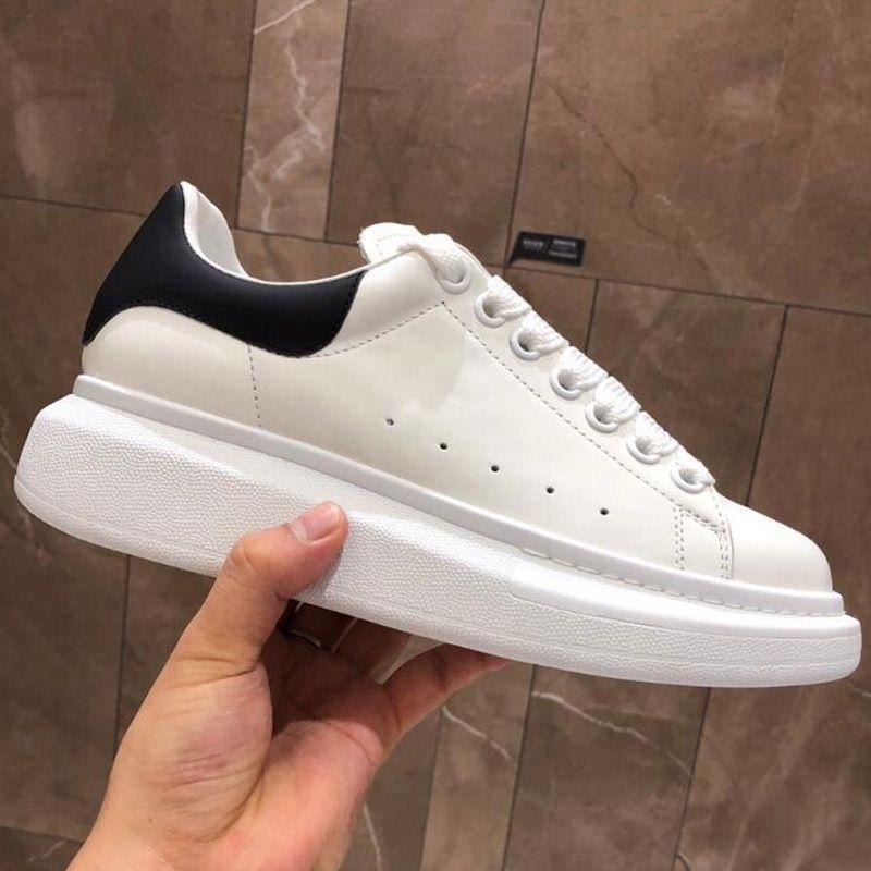 Nouvelle saison Designer Shoe Mode Luxe Femmes Chaussures Hommes lacets en cuir extra-grande plateforme unique Chaussures Blanc Noir Chaussures Casual avec la boîte