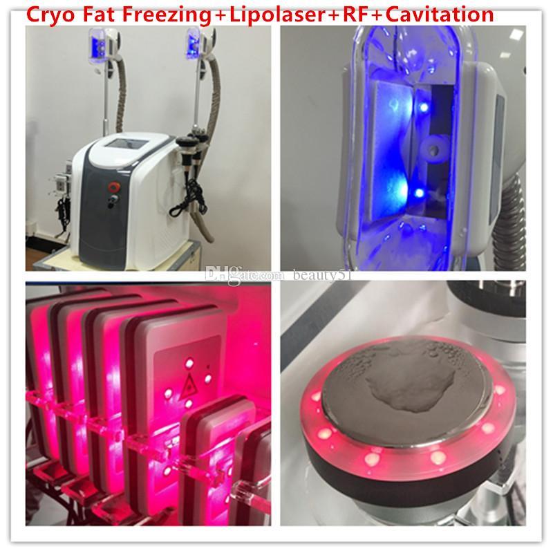 Double Two Cryo Fat Freezing Lipo Laser Slimming Machine Body Shaping Weight Loss RF Cavitation Vacuum Lipolysis Portable Fat Freeze Machine