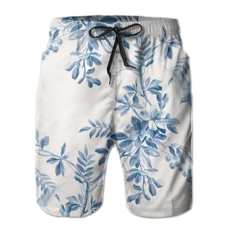 Summer beach swimsuit men's quick-drying swimwear Vintage Cherry Blossom men breathable swimwear beach shorts sexy male swimsuit