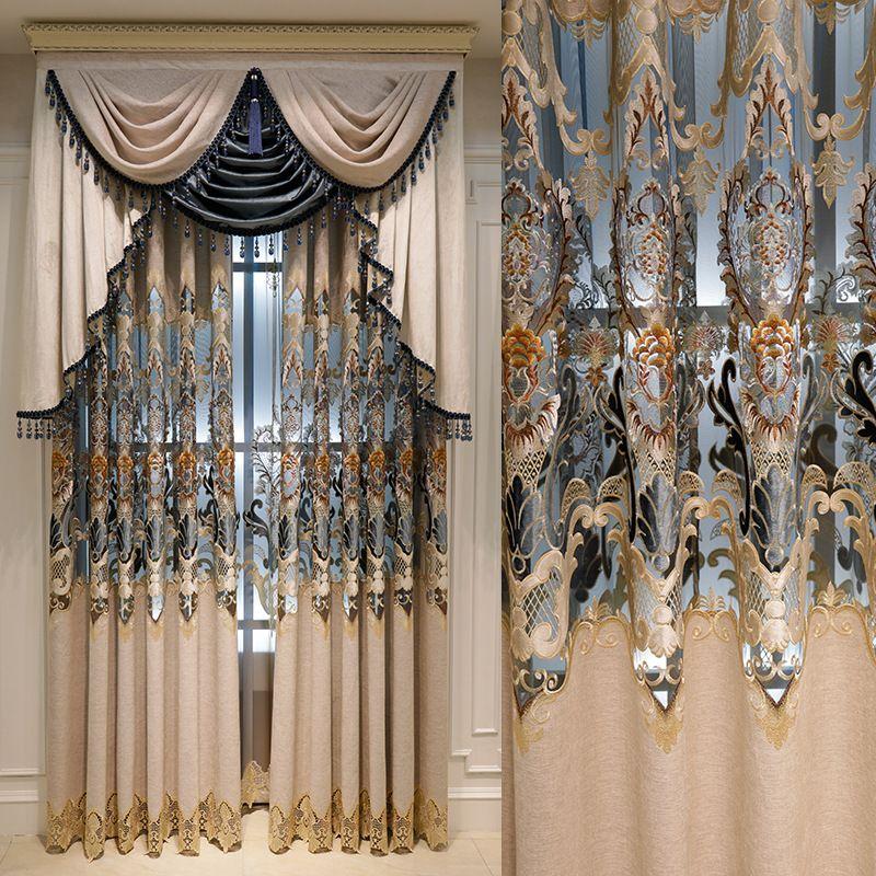 Bordados Europeia Niel solúvel em água semi-sombreamento cortinas de estar Sala de jantar Quarto Quarto.