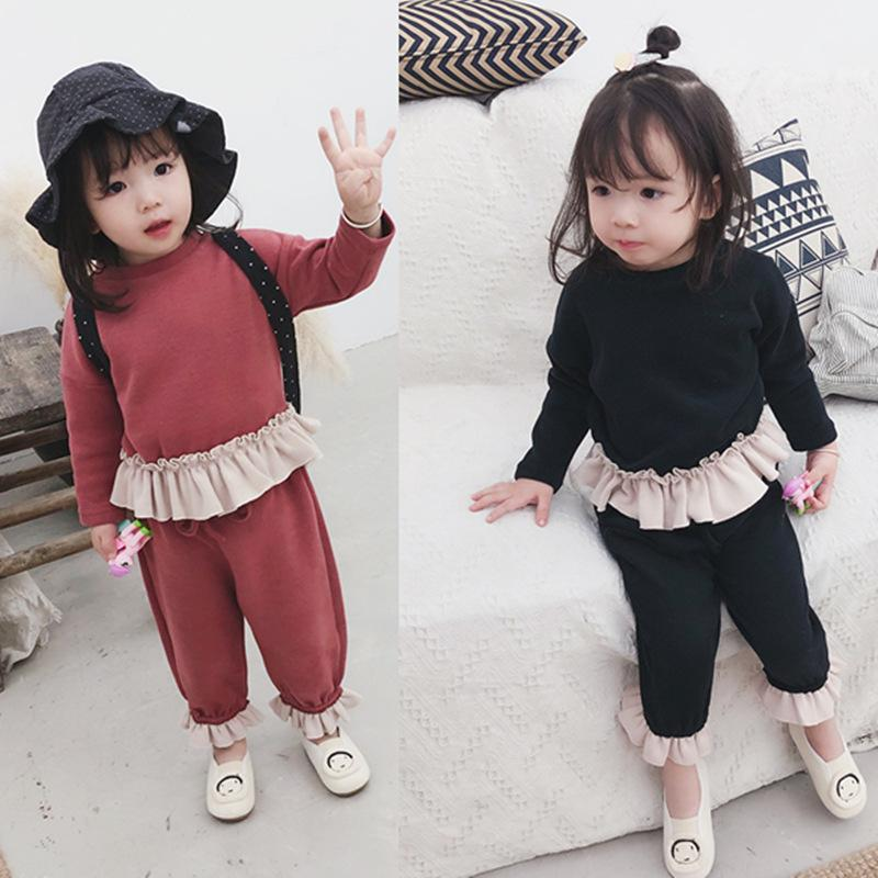 2PCS Baby Girls Outfits T-shirt+Long Pants Set Toddler Autumn Clothes Tracksuit