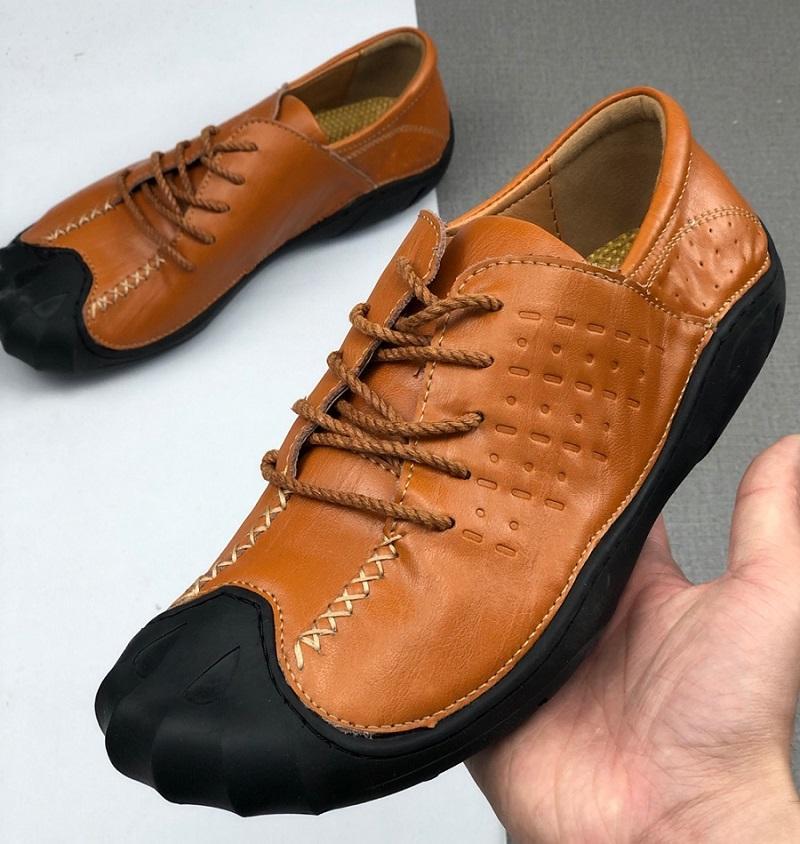 Marque Hommes Designer chaussures Véritable vache planche à roulettes en cuir à lacets sport Formateurs de la mode Flat rue chaussure décontractée travail Outillage, 38-44