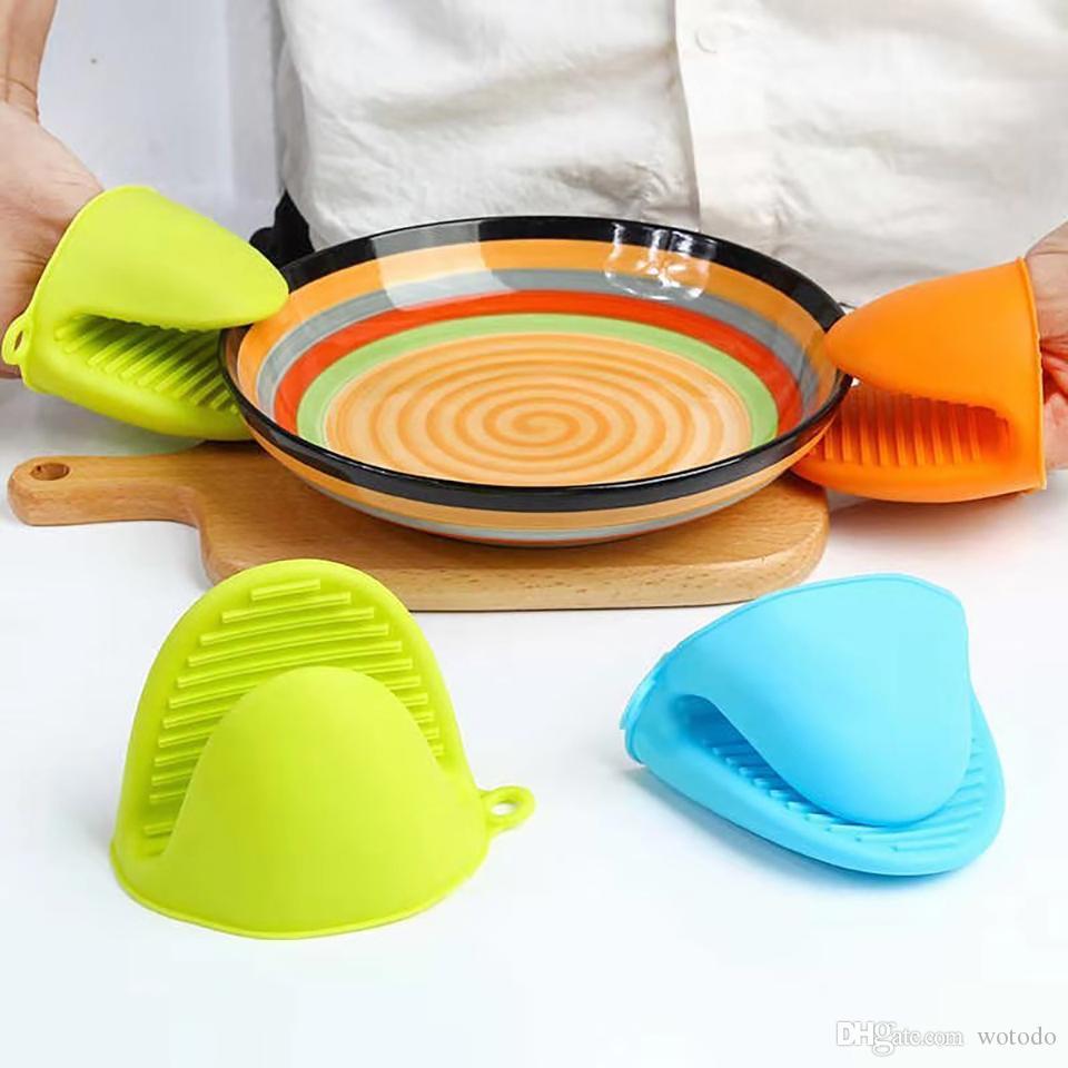 blau Kitchen Baking Tool Anti-Scald Kitchen Silica Gel Heat Insulation Glove Taking Plate Anti Scald Clip Oven Microwave Oven Mitts